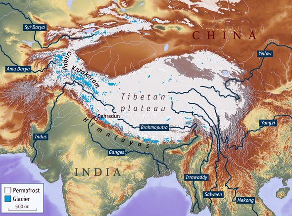 Tibetan Plateau On World Map.Urgent Measures Seen Required To Address Steep Rise In Tibets