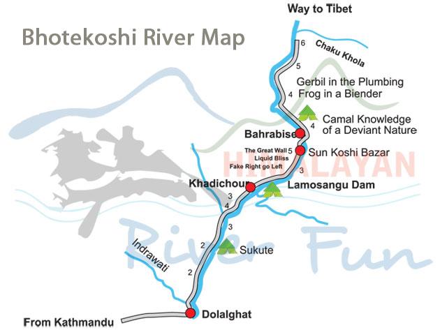 bhotekoshi-map